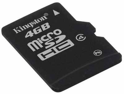 cartão memoria micro 4gb kingston