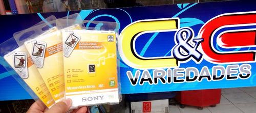 cartão  memória micro m2  2gb- original sony c/ frete grátes