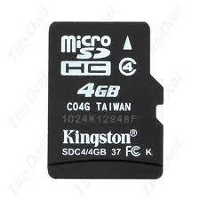 cartão memoria micro sd 4gb kingston + leitor + frete gratis
