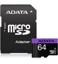 cartão memória micro sd a-data 64gb - ausdx64guicl10-ra1