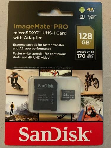 cartão memoria microsd 128gb imagemate pro a2 4k 170mb