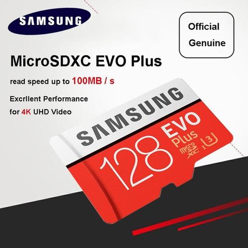 cartão memória samsung micro sdxc evo 128gb 100mb/s sd sdhc
