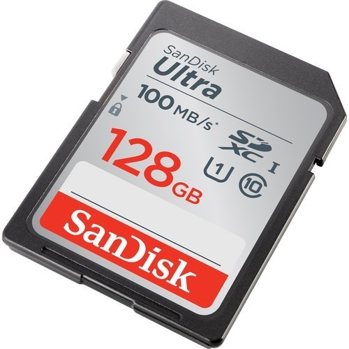 cartão memória sandisk 128gb ultra sdxc uhs-i 100 mb/s cl 10