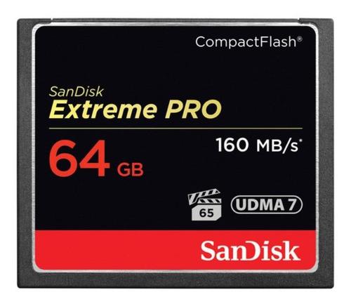 cartão memória sandisk compactflash 64gb extreme pro 160mb/s