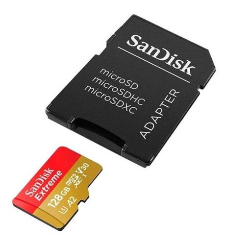 cartão memória sandisk micro sd xc 128gb extreme plus uhs-i