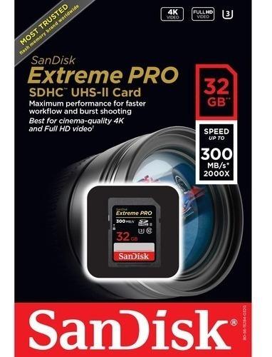 cartão memória sandisk sd hc 32gb extreme pro uhs-ii