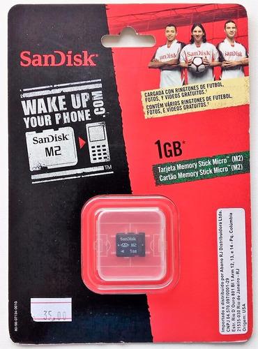 cartão micro m2 1gb memory stick  sandisk