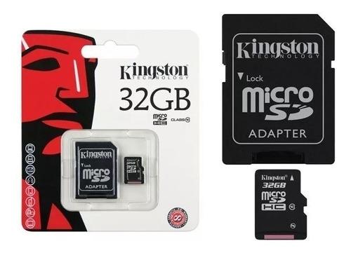 cartão micro sd 32gb kingston classe 10 original lacrado!!!