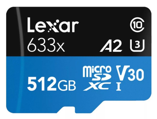 cartão micro sd lexar 512gb sdxc a2 galaxy s9 plus