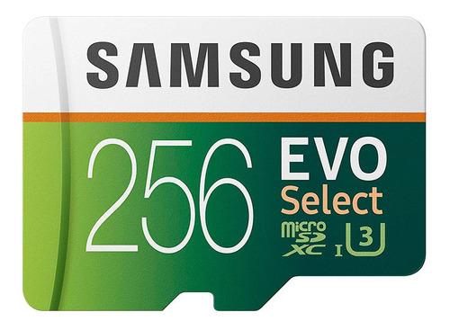 cartão micro sd samsung evo select 256gb 100mb u3 original