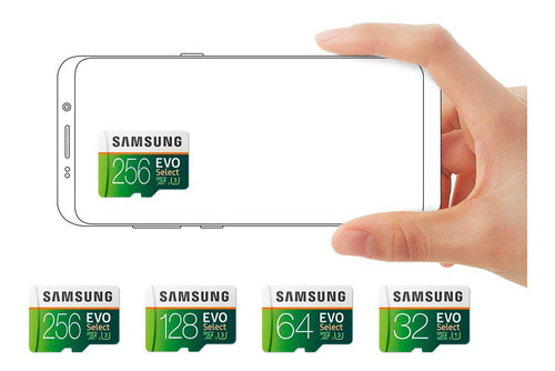 cartão micro sd samsung evo select 256gb 100mb u3 original
