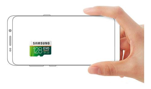 cartão micro sd samsung select evo 128gb 100mb u3 4k lacrado na caixa