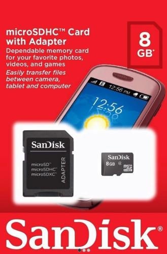 cartão micro sd sandisk 8 gb - lacrado
