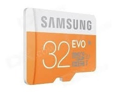 cartão micro sd sdhc samsung evo 32gb classe 10 48mb/s uhs-1