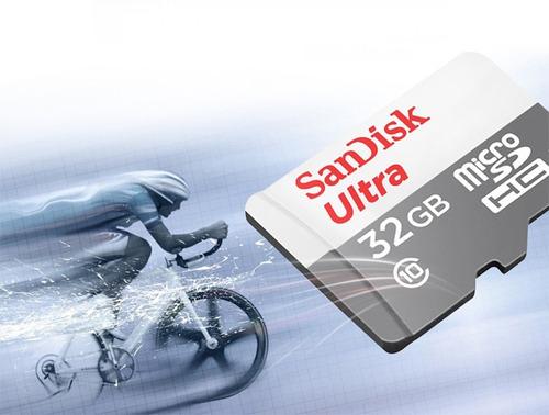 cartão micro sd ultra 32gb sandisk classe 10 48mb/s original