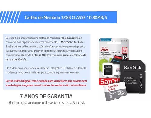 cartão micro sdhc 32gb