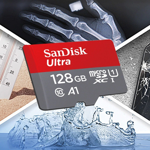 cartão micro sdxc 128gb ultra sd sandisk classe 10 100mb/s