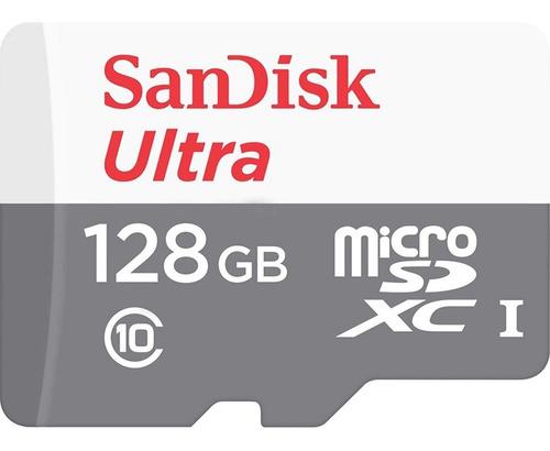 cartão microsd sandisk ultra 128gb classe 10  lacrado