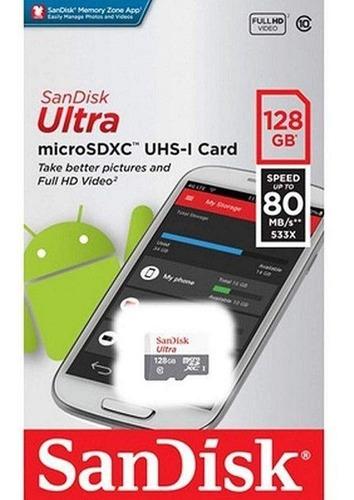 cartão microsd ultra sandisk 128gb lacrado original