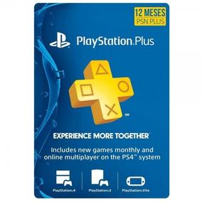 Cartão Playstation Plus 12 Meses Americano Us Ps3-ps4