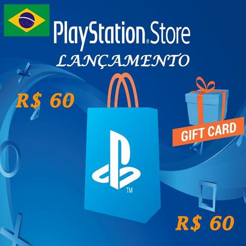 cartão playstation r$120 reais (60+60) psn  brasil brasileir