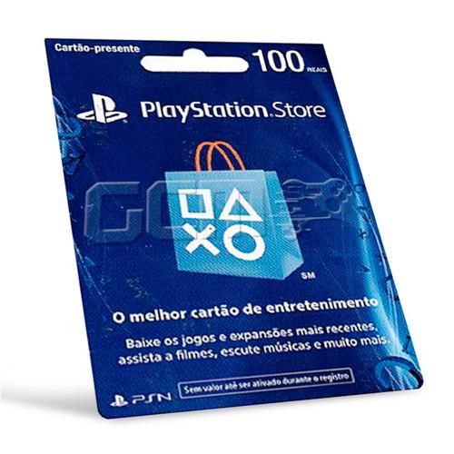 cartão playstation store brasil 100 reais psn brasileira br