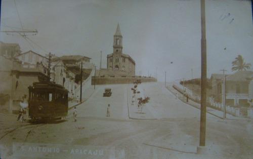 cartão postal antigo aracaju sergipe bonde santo antonio