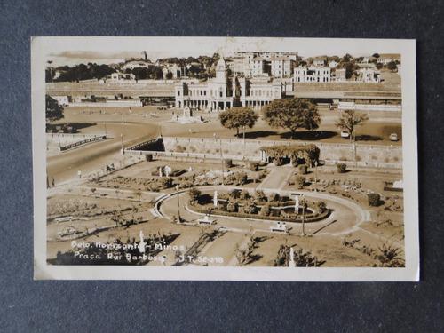 cartão postal antigo belo horizonte mg praça da estação 1960
