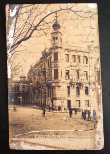 cartão postal antigo montevidéu palácio gelorons
