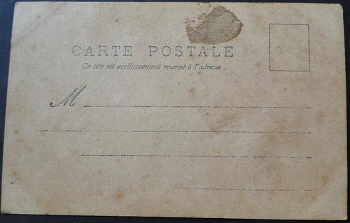 cartão postal antigo tematico romantico casal 1903