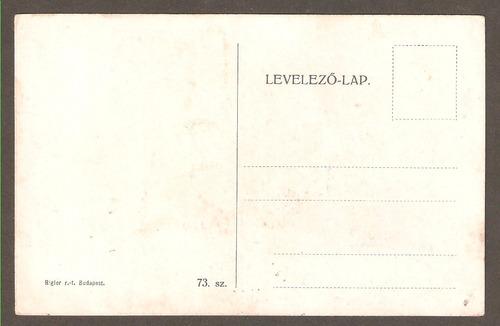 cartão postal budapeste hungria, 1916. frete grátis.