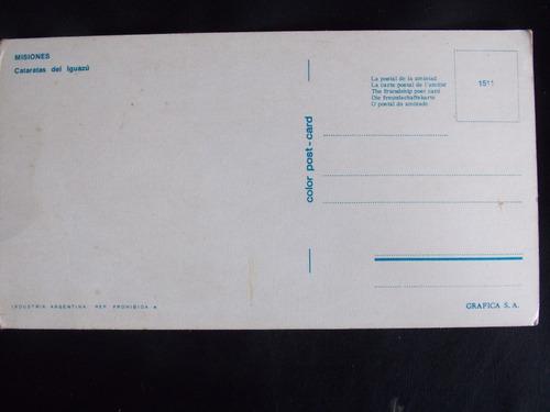 cartão postal cataratas de iguazu misiones argentina