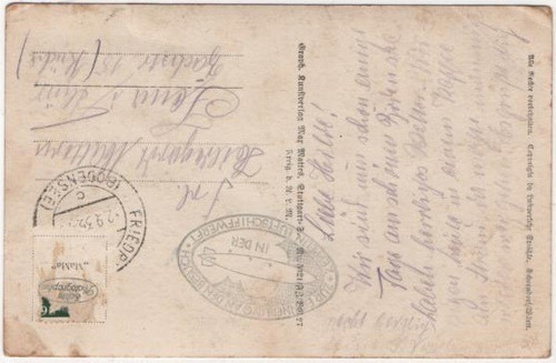 cartão postal dirigível zeppelin 4