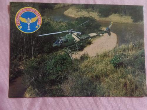 cartão postal eurocopter - as-550 fennec aviação do exercito