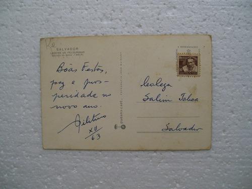 cartão postal - ladeira do pelourinho - salvador