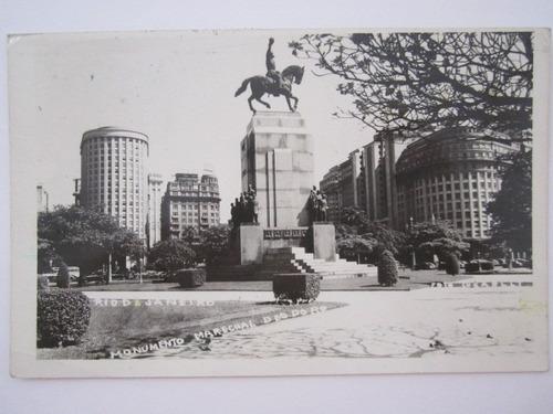 cartão postal monumento marechal deodoro rio de janeiro
