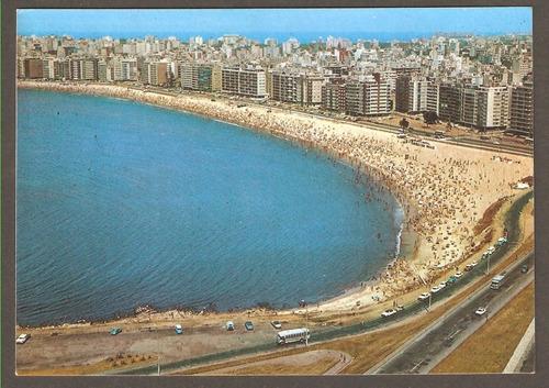 cartão postal praia pocitos montevidéo uruguai excelente