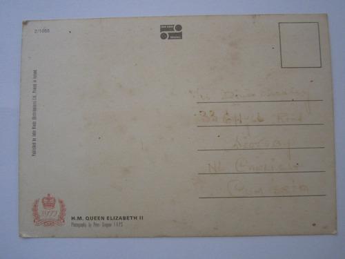 cartão postal rainha elizabeth ii