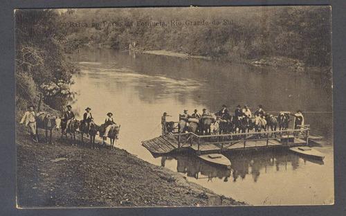 cartão postal - rios/rs