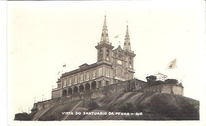 cartão postal vista do santuario da penha rj