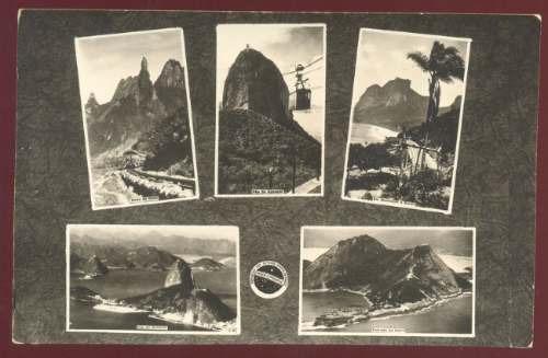 cartão postal vistas do rio de janeiro