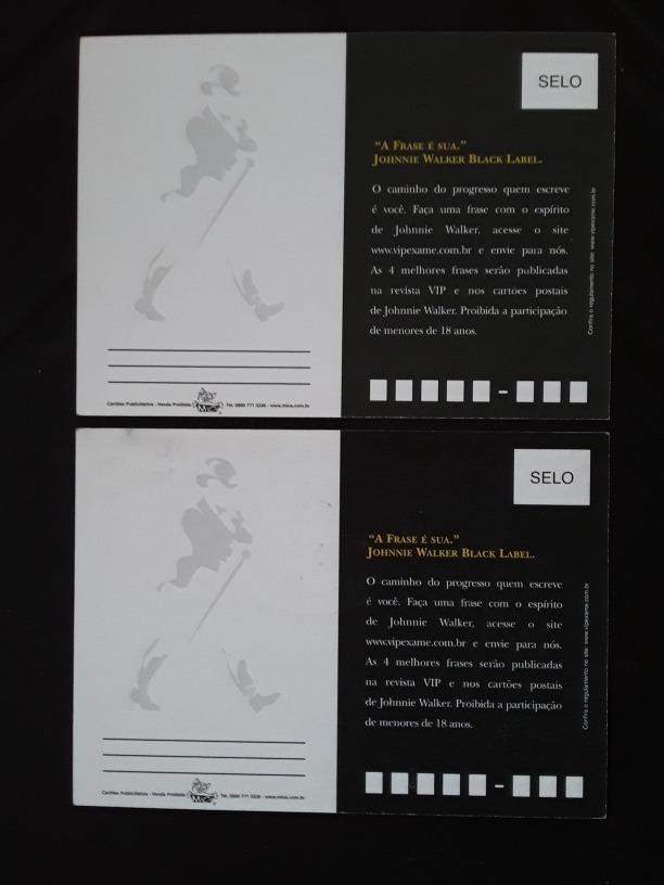 Cartão Postal Whisky Johnnie Walker 6 Pçs Frete Incluso