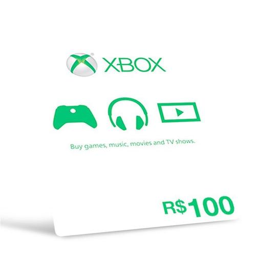 cartão presente microsoft points xbox brasil r$ 100 reais