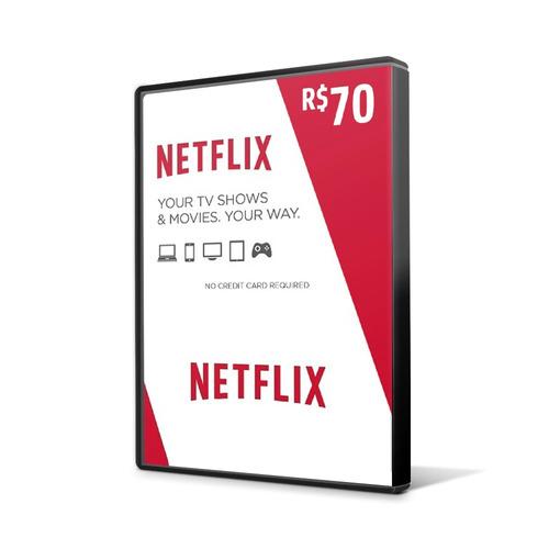 cartão presente netflix r$ 70 reais assinatura pré-pago