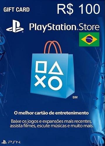 cartão psn brasileira brasil br r$ 100 reais -envio imediato