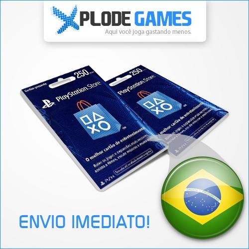 cartão psn brasileira r$ 250 cartão psn brasil 250 reais