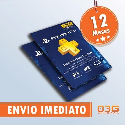 cartão psn playstation plus 12 meses americana usa imediato