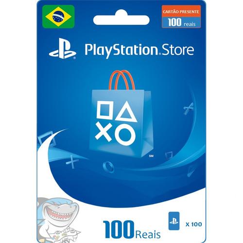 cartão psn r$100 brasil ps4 ou plus 6 meses - envio rápido