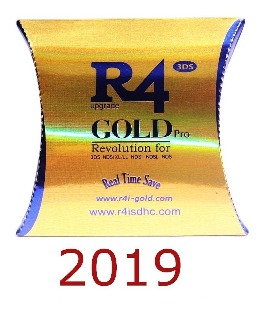 Cartão R4 Gold Pro Versão 2019-s/microsd Para 3ds/2ds/dsi/ds