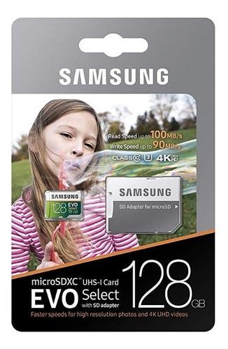 cartão samsung 128gb micro sd 100mb/s u3 4k original lacrado